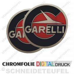 Garelli Tankaufkleber in chromglänzend