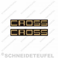 Kreidler Florett Cross Schriftzug Set