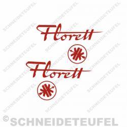 Kreidler Florett Aufkleberset - 1004