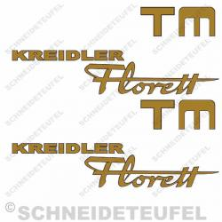 Kreidler Seitenaufkleber Florett TM Set