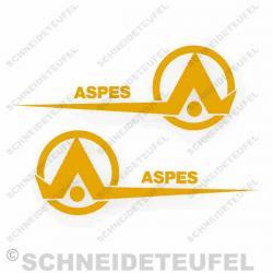 Aspes Navaho RCS Aufkleberset Gelb