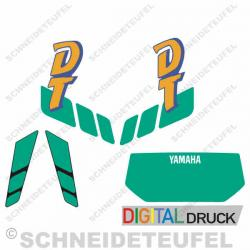 Yamaha DT Grün Aufkleberset