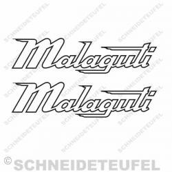 Malaguti Schriftzug 16cm