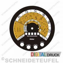 Tachometer Aufkleber Eicher Motometer