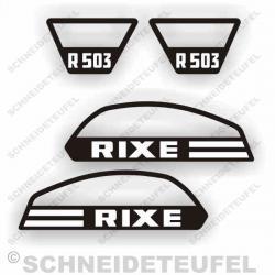 Rixe R 503 Aufkleber Set schwarz weiss