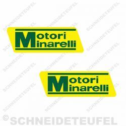 Motori Minarelli Aufkleber Set gelb/grün