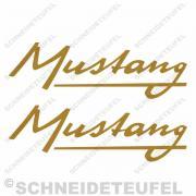 Kreidler Mustang Schriftzug Set gold