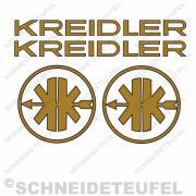 Kreidler Mofa Schriftzug schwarz gold