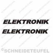 Kreidler Elektronik Schriftzug Aufkleberset
