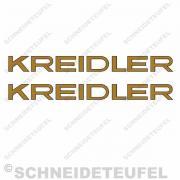 Kreidler Florett Schriftzug Aufkleberset