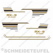 Hercules RX-9 Seiten-/Tankaufkleber Set