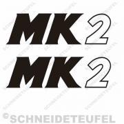 Hercules MK2 Seitenaufkleber schwarz