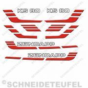 Zündapp KS 80 Aufkleberset rot