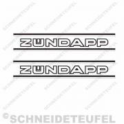 Zündapp Tankaufkleber s/w