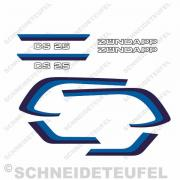 Zündapp CS 25 Dekorset blau