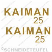 Kaimann 25 Aufklebersatz