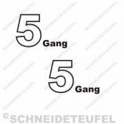 Kreidler Custom 5 Gang Tankaufkleber