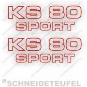Zündapp KS 80 sport rot