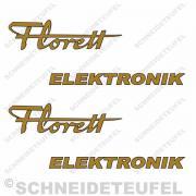 Kreidler Seitenaufkleber Florett Elektronik Set