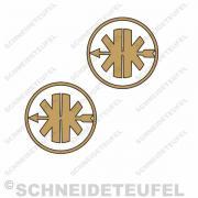 Kreidler Logo gold/schwarz Set