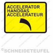 IHC Warnaufkleber Handgas