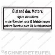 Güldner Serviceaufkleber Ölstand