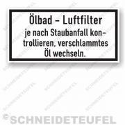 Güldner Serviceaufkleber Oelbad Luftfilter