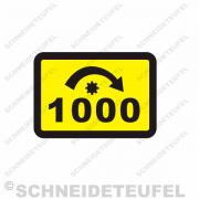 IHC Warnaufkleber Zapfwelle 1000