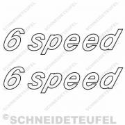 6 Speed Aufkleberset puch