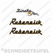 Rabeneick Binetta Star Aufkleberset