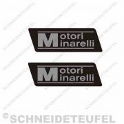 Motorini Minarelli schwarz Aufkleberset
