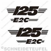 Malanca 125 E2C Seitenaufkleber schwarz