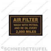 Royal Enfield Luftfilteraufkleber