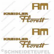 Kreidler Seitenaufkleber Florett RM Set