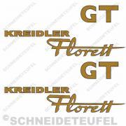 Kreidler Seitenaufkleber Florett GT Set