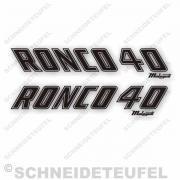 Malaguti Ronco 40 Tankaufkleber schwarz