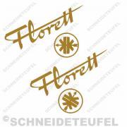 Kreidler Tankaufkleber Florett mit Logo Set