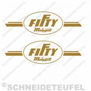Malaguti Fifty Tankaufkleber gold