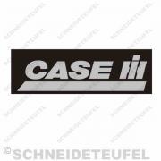 Case IHC Frontaufkleber Schwarz Silber