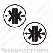 Kreidler Logo schwarz Set