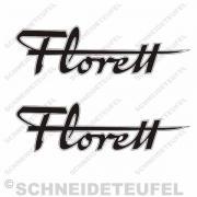 Kreidler Florett Schriftzug Set sw