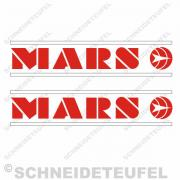 MARS Tankaufkleber Rot weiss