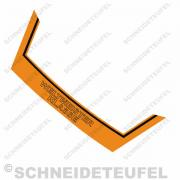 Kreidler Heckaufkleber Weltmeister orange