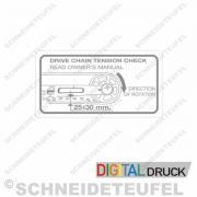 Gilera Kettenspannung Grau Transparent