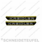 Kreidler Tankaufkleber Gelb Set