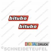 Bitubo Aufkleberset 4cm (DRUCK)