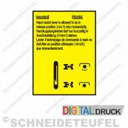 IHC Schild Handkupplungshebel