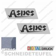 Aspes Motor Aufkleber Set
