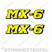 MX-6 Aufkleberset