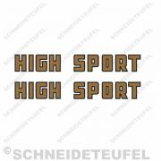 Rixe High Sport Schriftzug